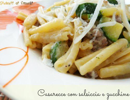 Casarecce con salsiccia e zucchine