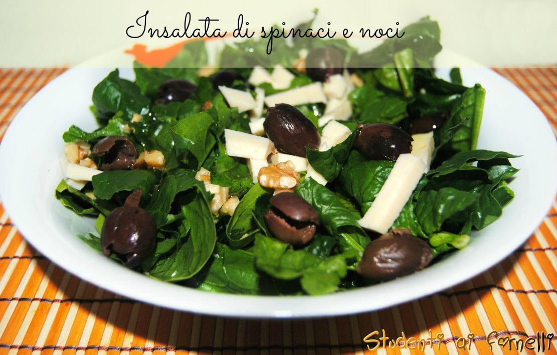 insalata di spinaci e noci ricetta con spinaci crudi