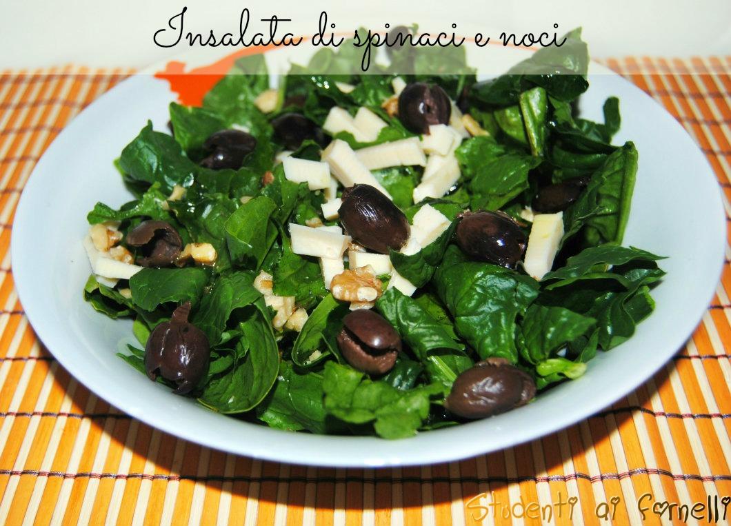 insalata di spinaci e noci ricetta insalatone
