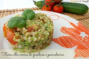 farro alle zucchine e pomodorini ricetta insalata estiva con farro