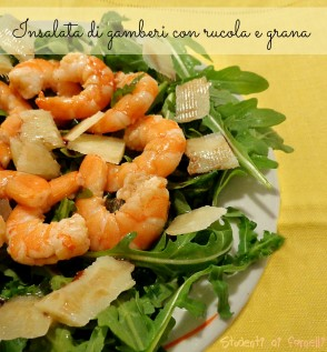 insalata di gamberi con rucola e grana ricetta antipasto estivo ricette estive