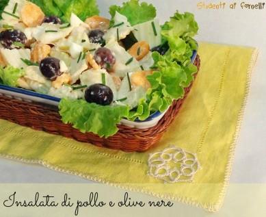 insalata di pollo e olive nere ricetta insalata estiva con pollo ricette estive