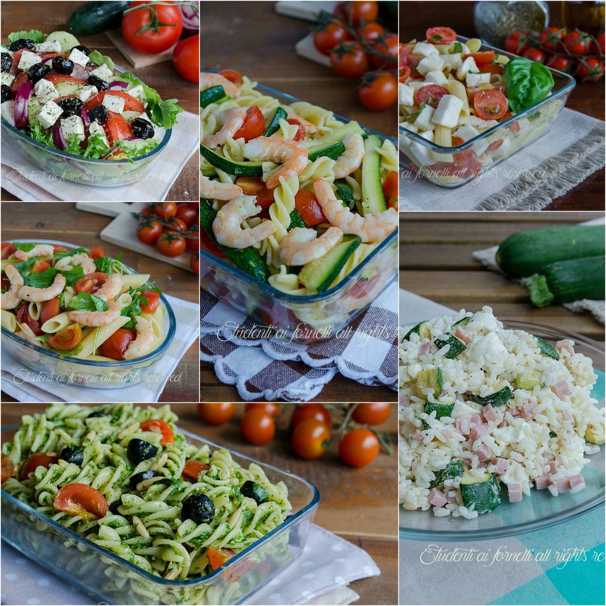 ricette estive primi piatti freddi insalate piatti unici