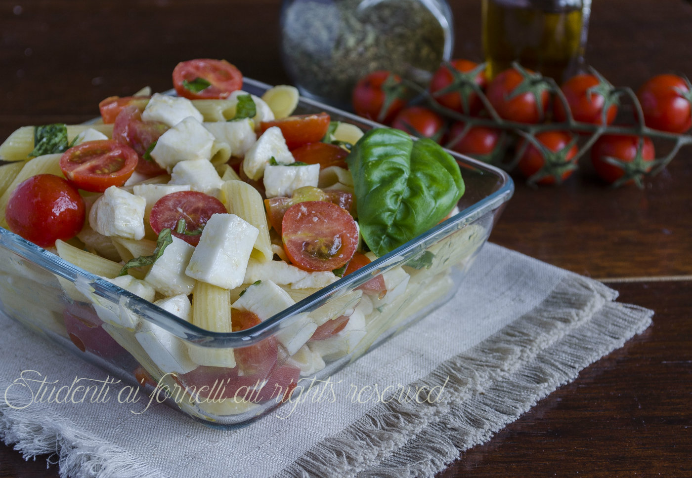 Estremamente Pennette alla caprese con pomodorini e mozzarella, ricetta JD29