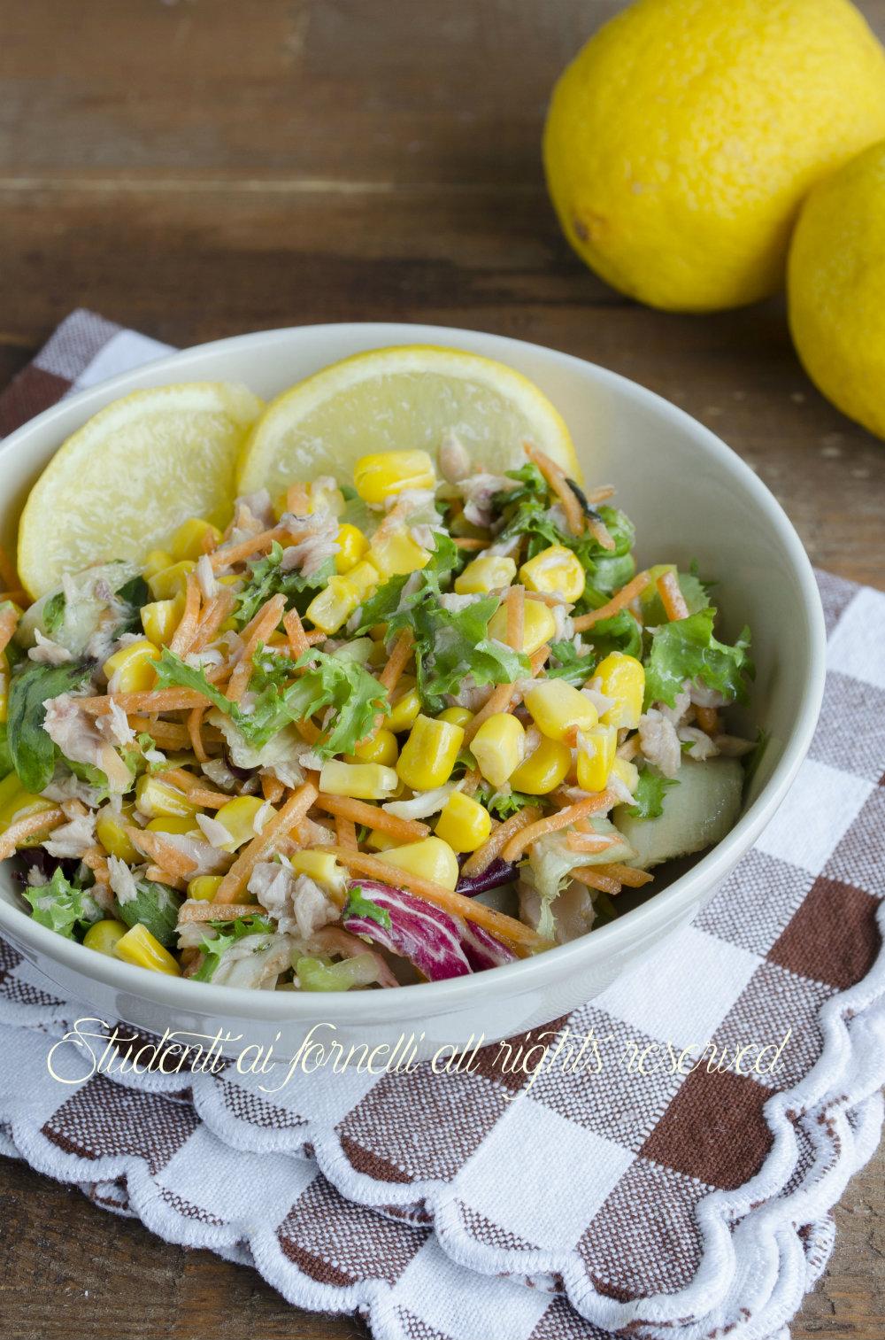 insalatona con tonno e mais al limone ricetta insalata fresca estiva