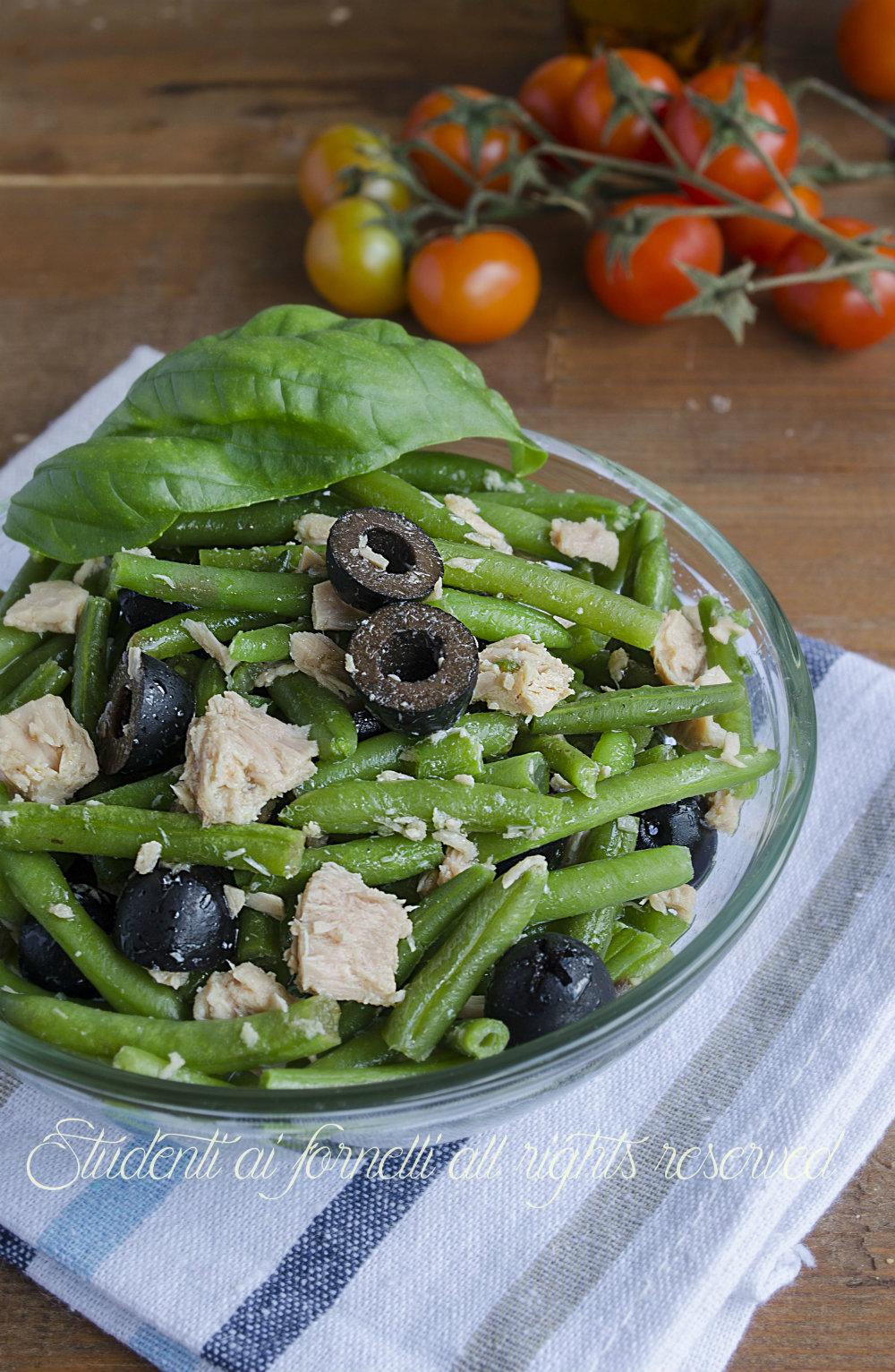 insalata di tonno con fagiolini e olive ricetta insalata estiva sfiziosa