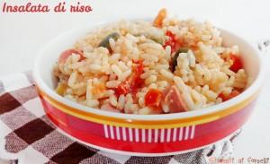 Insalata di riso con pomodorini tonno olive e wurstel ricetta estiva