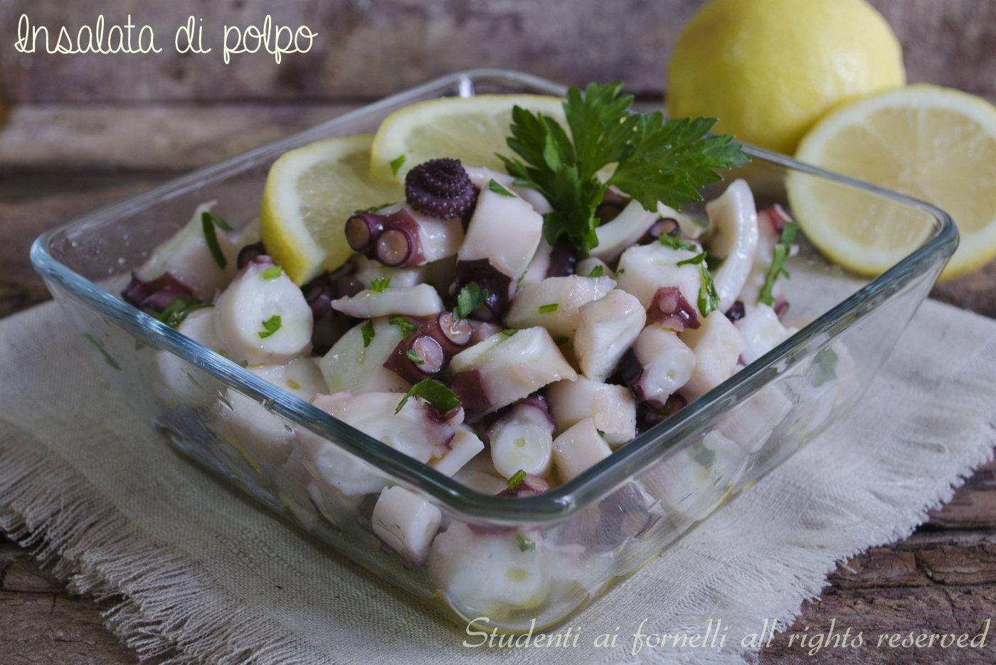 insalata di polpo limone e prezzemolo ricetta antipasto di mare pesce fresco