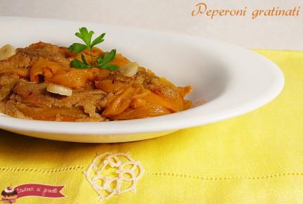 peperoni gratinati ricetta contorno antipasto vegetariano