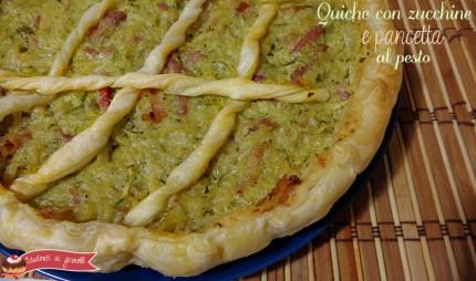 quiche con zucchine e pancetta al pesto ricetta torta salata gustosa