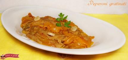 ricetta peperoni gratinati per contorno o antipasto