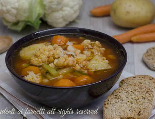 Zuppa di cavolfiore e patate