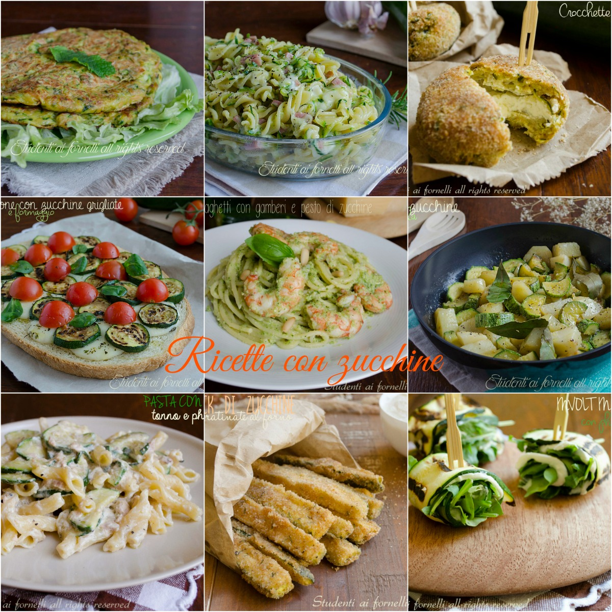 ricette con zucchine di stagione antipasti primi secondi piatti freddi contorno ricette vegetariane sfiziose veloci
