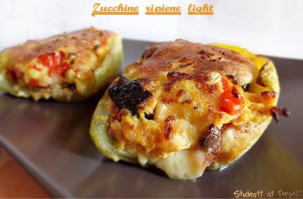 zucchine ripiene light cotte in padella ricetta vegetariana