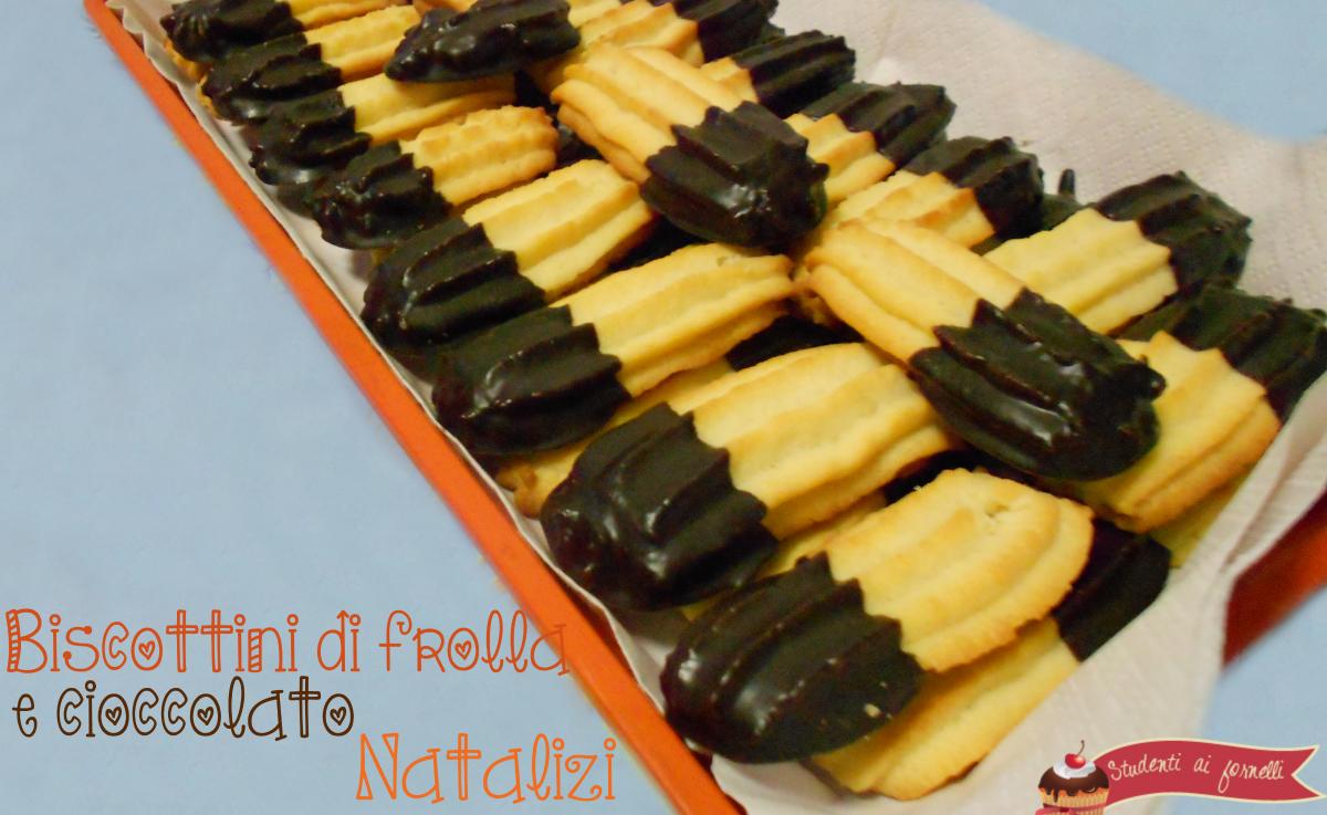 biscottini natalizi di frolla e cioccolato ricetta biscotti