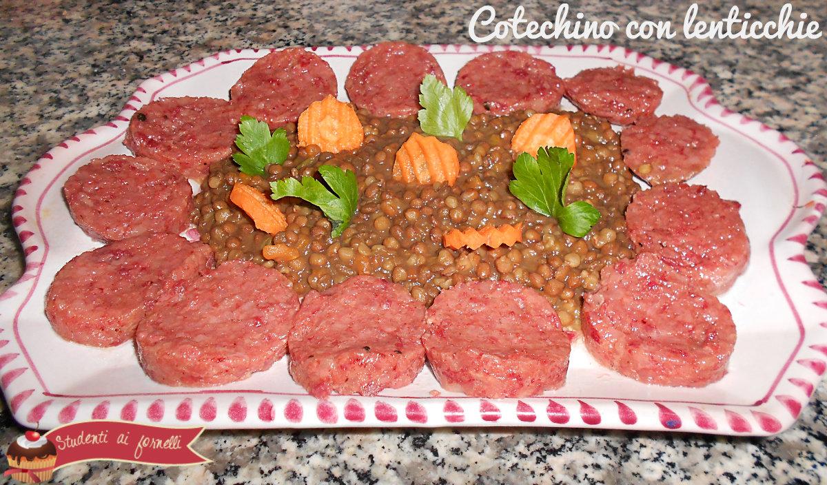 cotechino con lenticchie ricetta capodanno tipica portafortuna