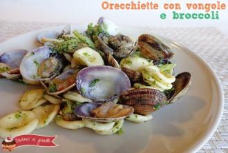 orecchiette con vongole e broccoli ricetta primo di pesce natalizio