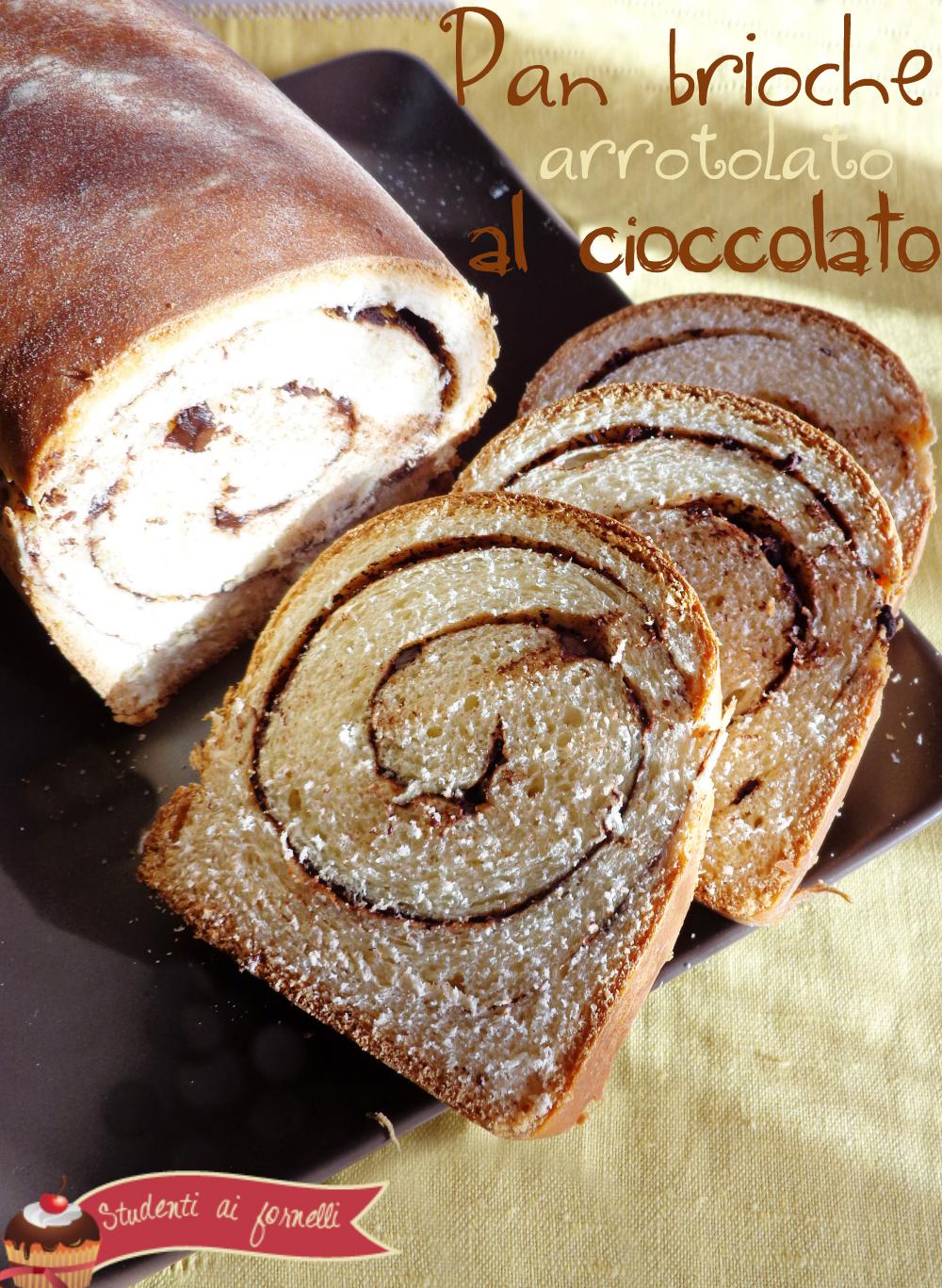 pan brioche arrotolato al cioccolato ricetta colazione golosa