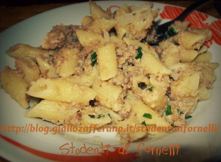 Pasta with tuna and lemon