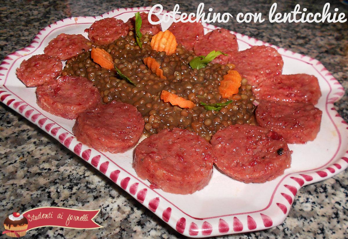 ricetta cotechino con lenticchie gustose ricetta capodanno