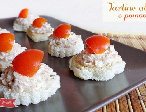 Tartine al tonno e pomodorini