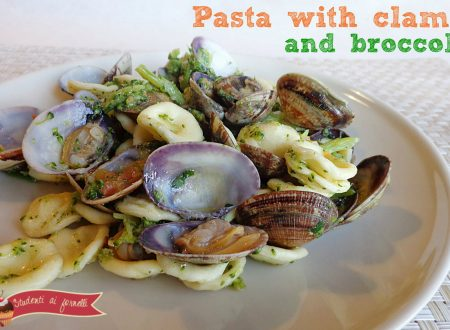 Pasta with clams and broccoli