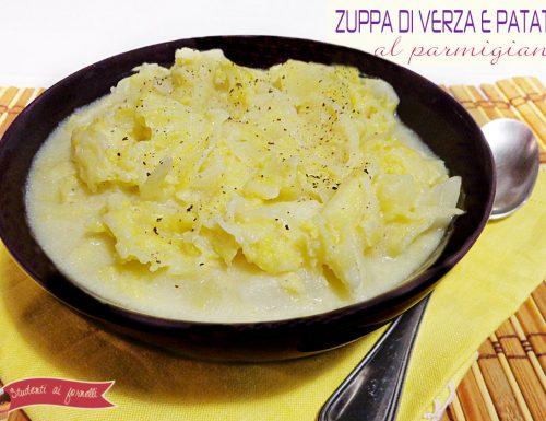 Zuppa verza e patate al parmigiano