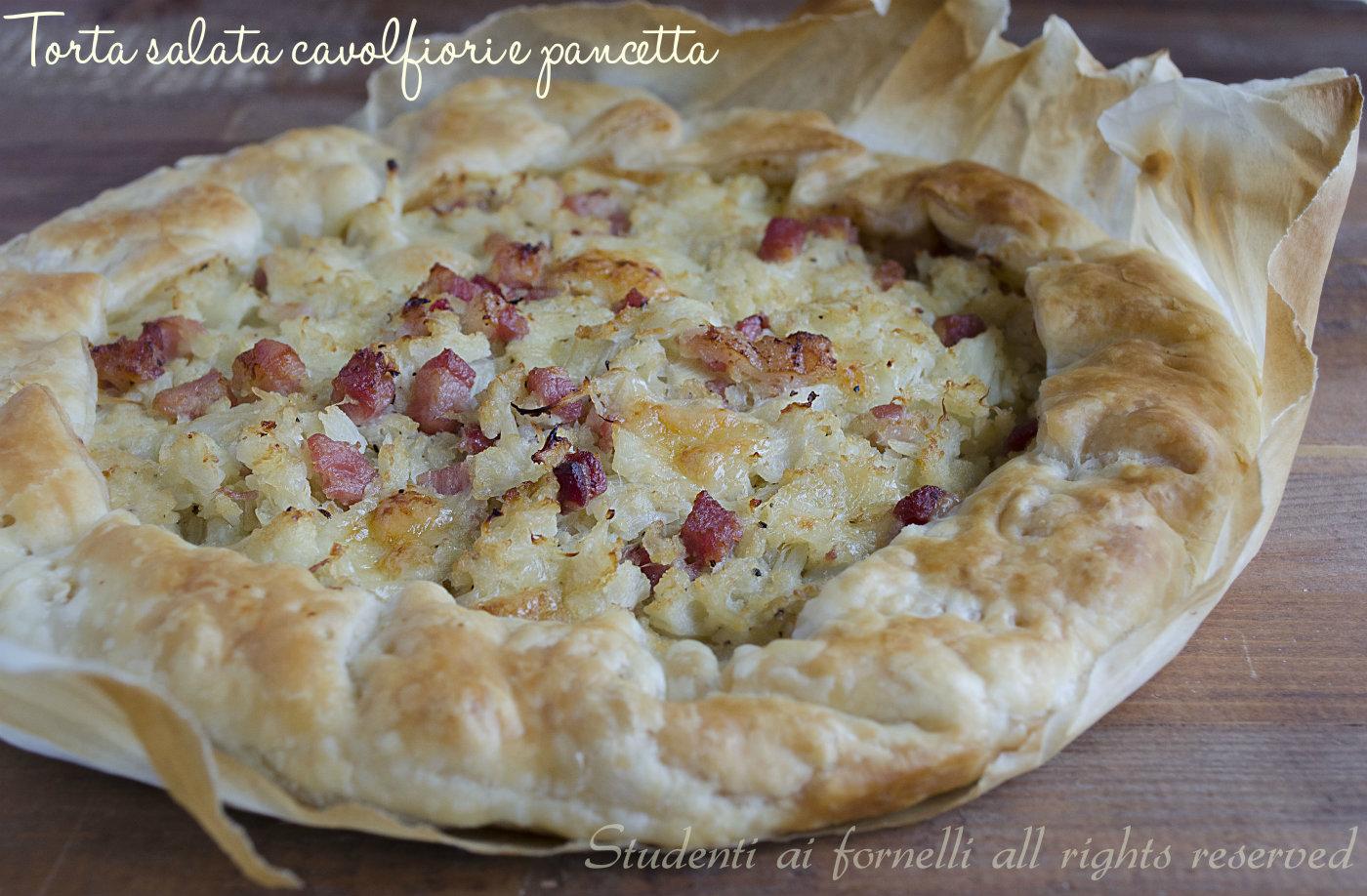 torta salata cavolfiori e pancetta ricetta rustico gustoso