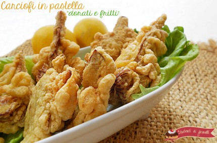 carciofi in pastella dorati e fritti ricetta tipica napoletana ricetta secondo carciofi vegetariana
