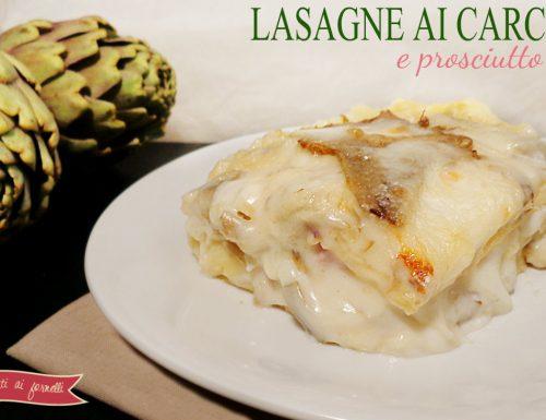 Lasagne ai carciofi e prosciutto