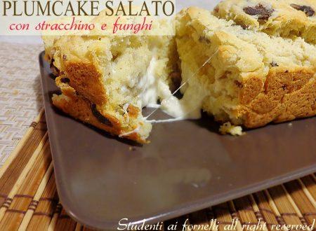 Plumcake salato con stracchino e funghi