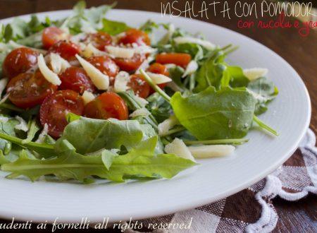 Insalata con pomodorini rucola e grana