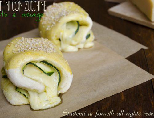 Fagottini con zucchine pesto e asiago