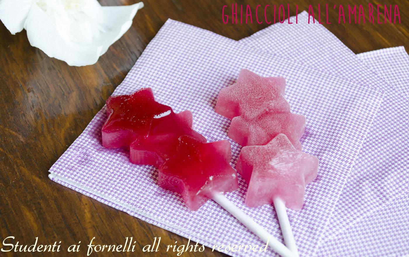 ghiaccioli all' amarena fatti in casa veloci ricetta facile estiva