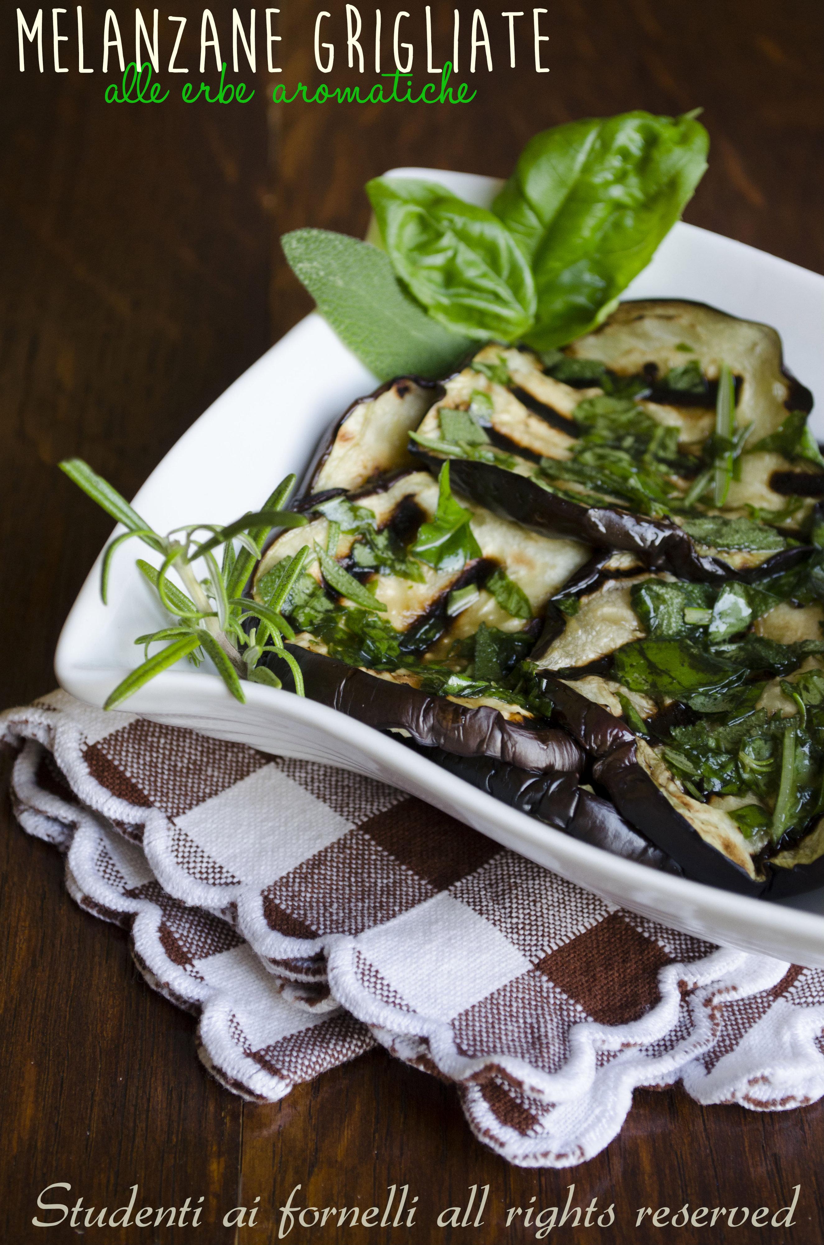 melanzane grigliate alle erbe aromatiche ricetta sfiziosa