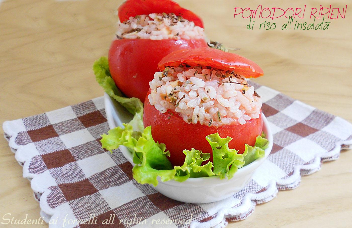 pomodori ripieni di riso all'insalata ricetta primo piatto estivo copy