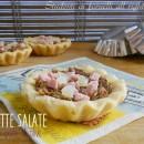 Tartellette salate prosciutto e patè di olive