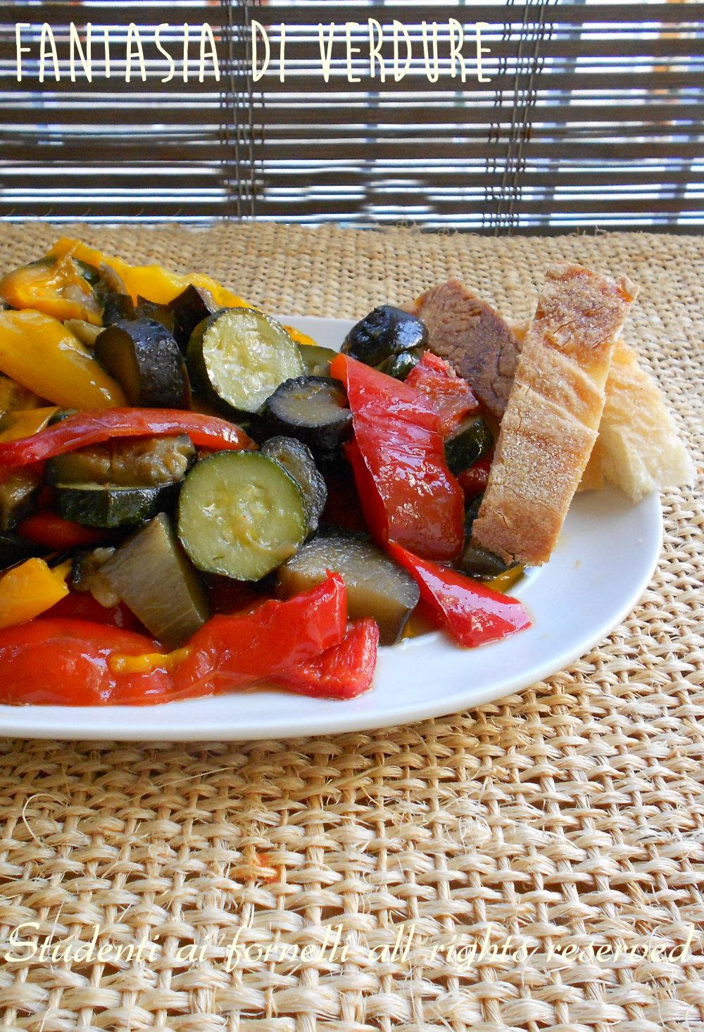 fantasia di verdure in padella ricetta verdure light in padella