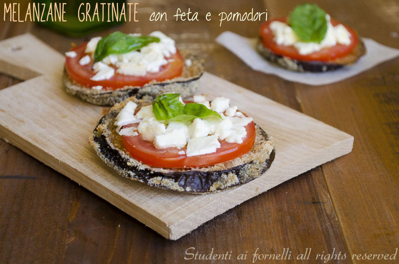 Melanzane gratinate con feta e pomodori ricetta sfiziosa for Cucinare vegetariano