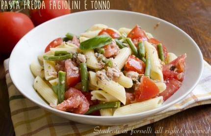 pasta fredda fagiolini tonno e pomodori ricetta insalata di pasta estiva