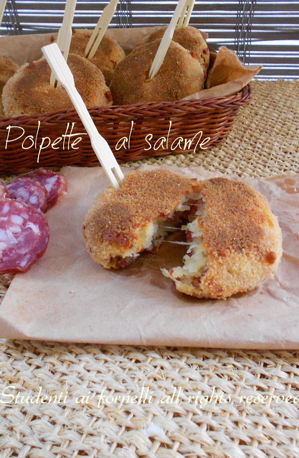 polpette al salame e formaggio cotte in forno ricetta