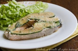 salmone in crosta di zucchine ricetta secondo con salmone