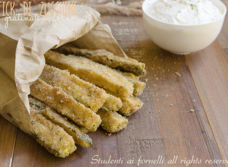 Stick di zucchine saporite al forno