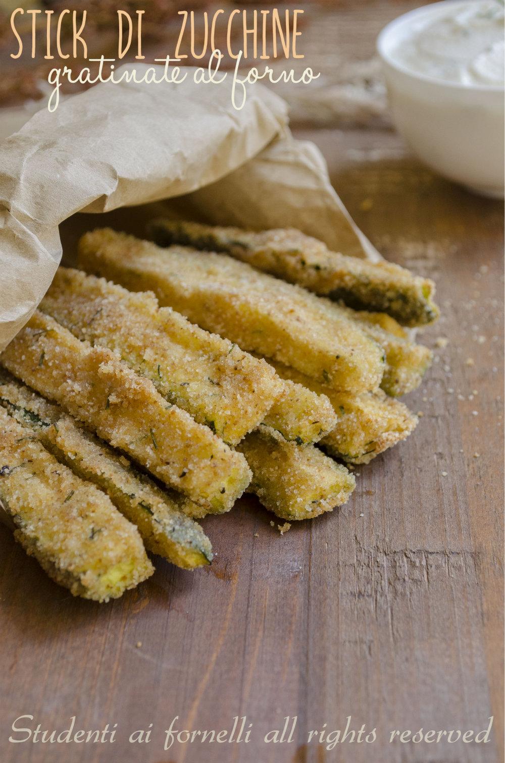stick di zucchine al forno ricetta contono con zucchine