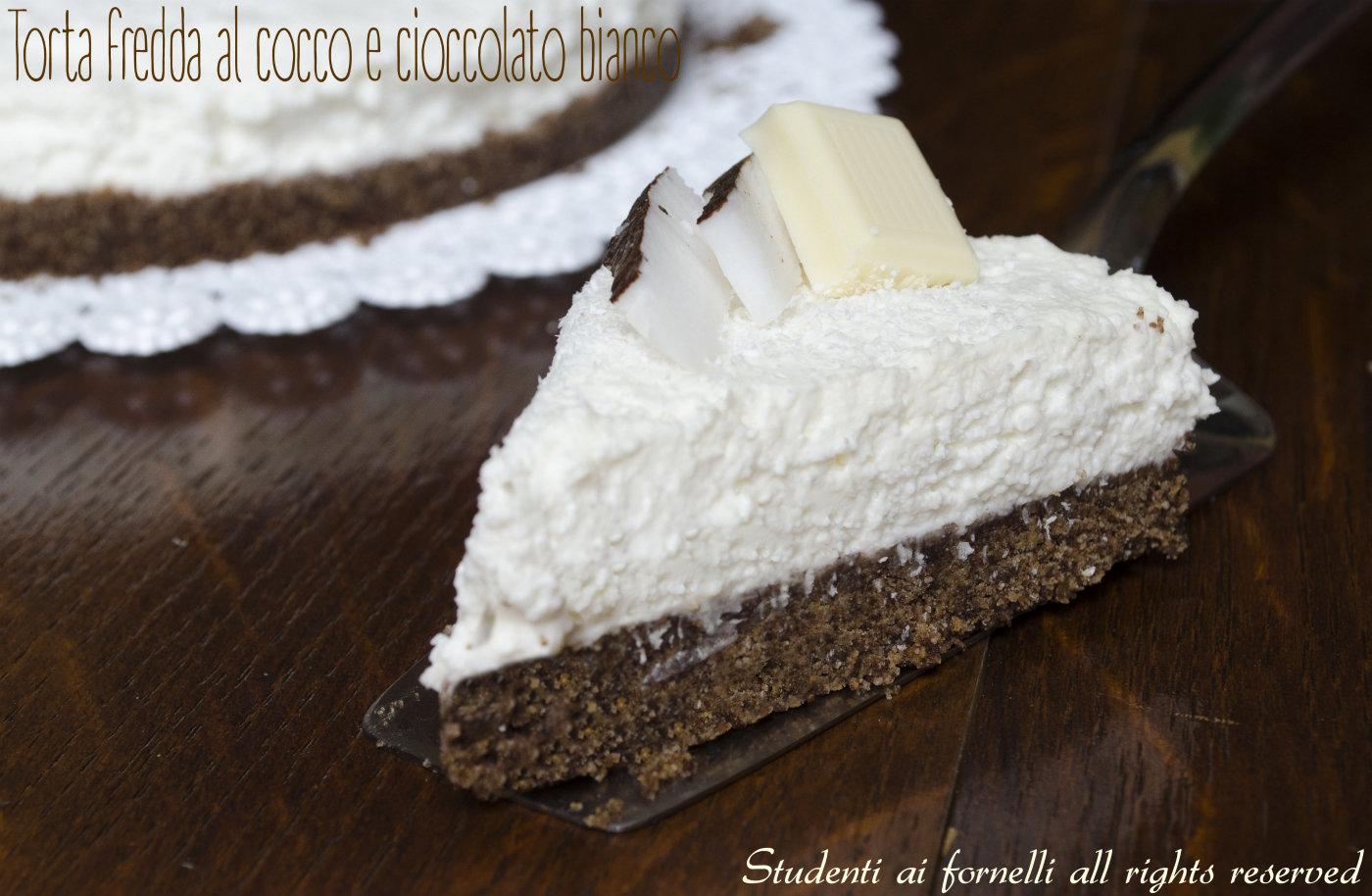 Eccezionale Torta fredda al cocco e cioccolato bianco, ricetta cheesecake DQ32