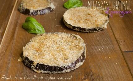 melanzane gratinate al parmigiano cotte in forno con pangrattato ricetta
