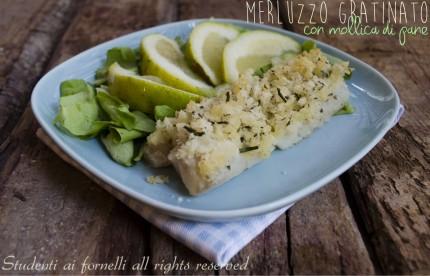 merluzzo gratinato con mollica di pane e erbe aromatiche al forno ricetta facile