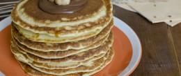 Pancakes alla nutella e nocciole