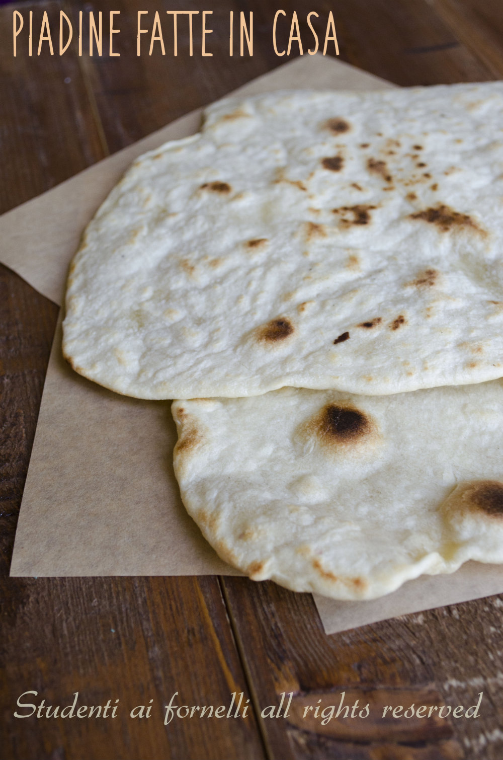 ricetta piadina fatta in casa senza strutto piada romagnola