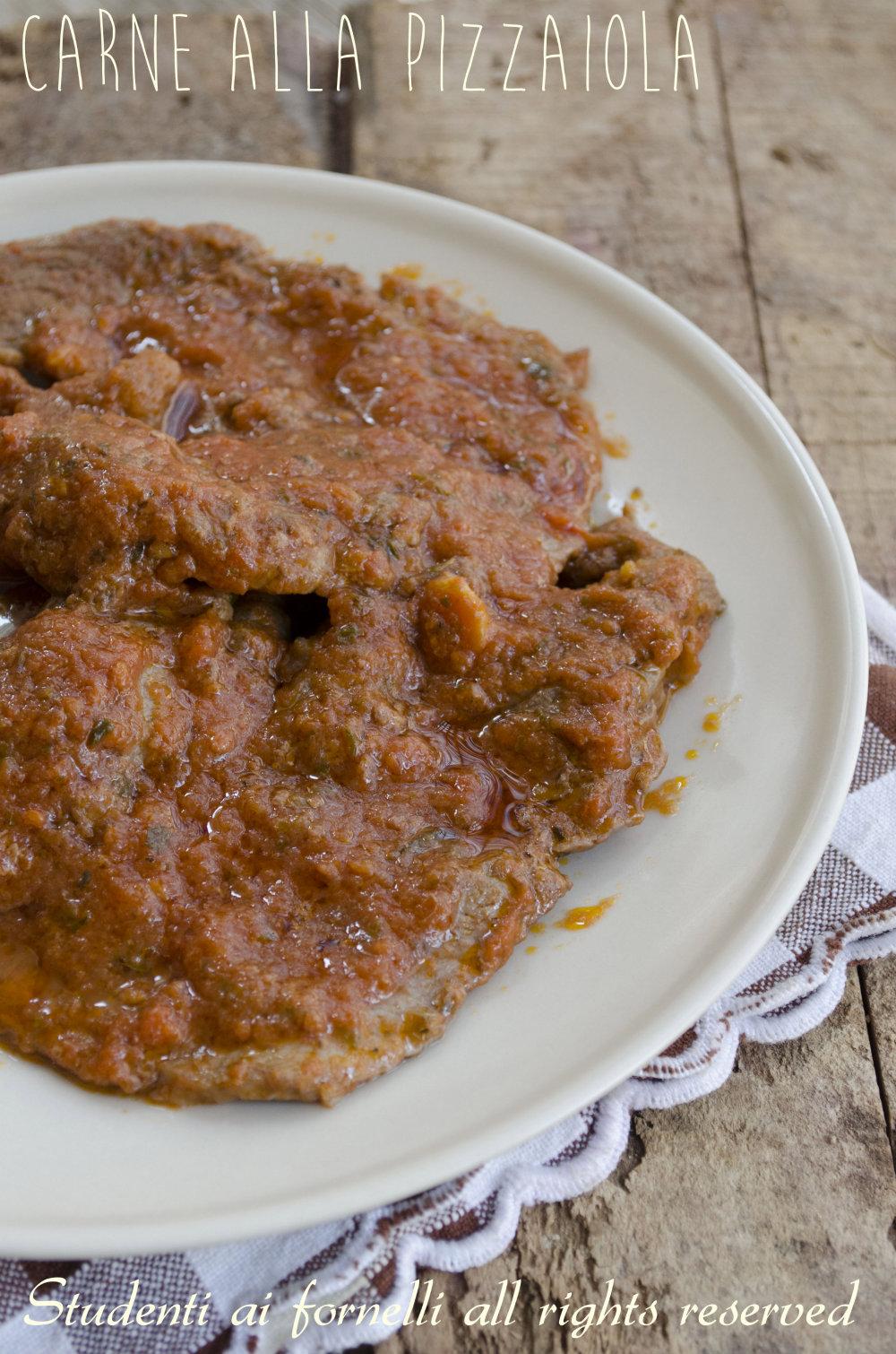 ricetta carne alla pizzaiola di vitello con sugo